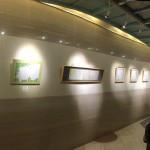 『俳画とペン字展』西明石キャッスルプラザ2階ロビーにて。2/29まで